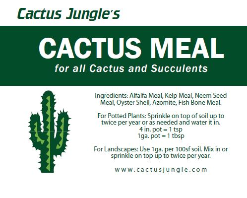 Cactus Meal 1 Pint Cactus And Succulent Fertilizer Cactus Jungle